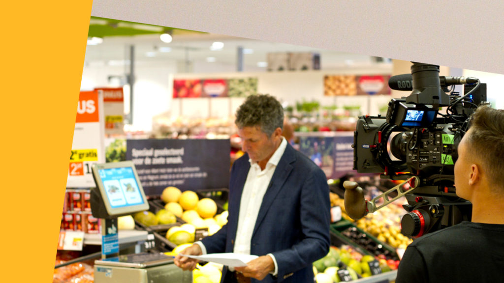 cameraman neemt employer branding film Ahold IT op